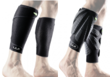 All-In Sport: <p>LILA Exogen kuiten sleeves. De kuiten sleeves zijn gericht om de weerstand van de onderbenen te trainen. Op dit neopreen/compressie ma...