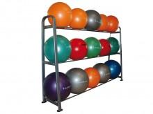 All-In Sport: De 3 etages zijn geschikt voor het plaatsen van verschillende balafmetingen. De legplanken zijn gemaakt voor gymnastiekballen met een min...