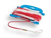 All-In Sport: aus 5 mm starker Nylonkordel geflochten, im Abstand von 20 cm farblich abgesetzt (verschiedene Kontrastfarben zum Einsatz je nach  Lichtv...