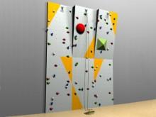 All-In Sport: De ideale klimwand voor de schoolsport. Toepassing van verschillende klimtechnieken met overhang, toprope en boulderroutes.