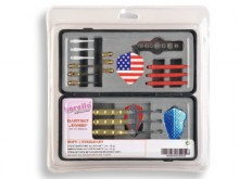 All-In Sport: Praktische set bestaande uit: 3 softdarts met messing barrel en aluminium shaft, ombouwbaar tot steeldarts, reserve tips, metalen tips vo...