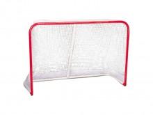 All-In Sport: Stabiel streethockeydoel met oficiële wedstrijdafmetingen. Doelframe van 5,5 cm dik staal inclusief weerbestendig net. Bodemframe voor tr...