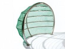 All-In Sport: Fijnmazig net van 4 mm polypropyleen met een maaswijdte van maar 4 cm.