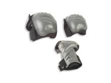 All-In Sport: Biomechanische protectieset met pols-, knie- en ellenboogbeschermers. Voorgevormde harde schalen, anatomisch afgestemde pasvorm. TÜV-getest.