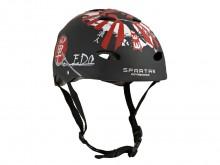 All-In Sport: Solide en lichte skatehelm in trendy design. De helm heeft een schaal van hard, stoot- en slagvast  ABS-kunststof met een origineel desig...