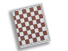 All-In Sport: Voor wedstrijden geschikt schaakbord van skai-kunstleer. Kleuren bruin/wit, bordmaat: 50 x 50 cm, veldmaat: 5,5 x 5,5 cm.
