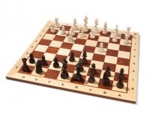 All-In Sport: Internationaal wedstrijd schaakbord van hout, kleuren bruin/naturel, bordmaat 55 x 55 cm, veldmaat 5,6 x 5,6 cm.