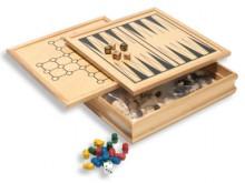 All-In Sport: Met de klassiekers Backgammon, Patience, Dammen, Schaken en Ludo behoort deze Spellencassette in elke huishouding. Massieve uitvoering va...