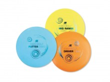All-In Sport: 3-delige werpschijven Golfset: 1 x Driver Disc voor werpen over grote afstanden, 1 x Mid-Range Disc voor middel en korte afstanden en 1 x...