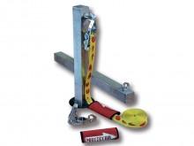 All-In Sport: Slacklinepalen van vuurverzinkt staal voor het gebruik in zowel sporthallen als voor buitengebruik, als er geen geschikt bomen of palen b...