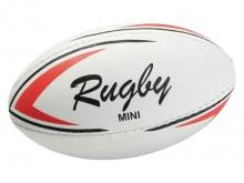 All-In Sport: Speel- en trainingsbal, synthetisch leder, uit 4 delen handgenaaid. Maat 1 (15 x 7,5 cm).