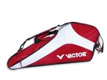 All-In Sport: Robuust nylon materiaal met ritssluiting en verstelbare draagriem. Een hoofdvak voor minstens 10 badminton-, 5 squash- of 3 tennisrackets.
