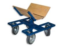 All-In Sport: In hoogte verstelbare wagen voor het comfortabel transporteren van badmintoncourts.