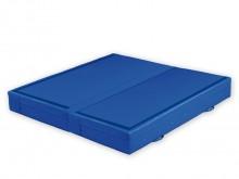 All-In Sport: Bouldermatte ideaal voor grotere gebieden veilig worden geïnterpreteerd. De mat heeft een RG 25 PU-schuim kern en een schelp van blauwe s...