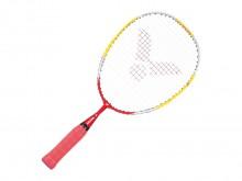 All-In Sport: Shaftloos racket met druppelvormig aluminium blad en duurzame Lawntex bespanning en een verkorte, speciaal voor kinderhanden gemaakte gri...