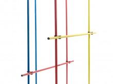 All-In Sport: Deze stok van breukvast elastisch kunststof kan in de voet F1410 gestoken worden.