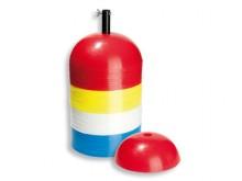 All-In Sport: Van slagvast kunststof, praktisch voor elke training, ook geschikt als halve balanceerbol voor kinderen. Afm. ca. Ø 19,5 cm, 9 cm hoog, e...
