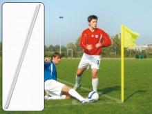 All-In Sport: Kleur wit, 165 cm lang, Ø 30 mm dikwandig, elastisch, splintervrij (aub. de geschikte bodemhuls en vlag apart bestellen).