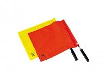 All-In Sport: Van fluoriserend stof, met lichte kunststof stok en zachte greep, ca. 40 x 35 cm.