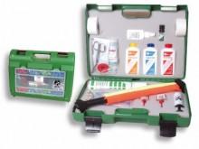 All-In Sport: Voetbal servicekoffer met meer dan 160 nuttige onderdelen, inhoud: Coolspray, 2 x sporttape, Octanisept wonddesinfectie, verbandset met e...