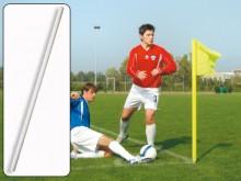 All-In Sport: Kleur wit, 160 cm lang, Ø 50 mm. Licht en onbreekbaar, weerbestendig, kleurecht. Excl. vlag – aub. apart bestellen.