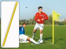 All-In Sport: Kleur geel, 160 cm lang, Ø 50 mm. Licht en onbreekbaar, weerbestendig, kleurecht. Excl. vlag – aub. apart bestellen.
