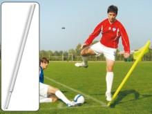 All-In Sport: Kleur wit, 175 cm lang, Ø 50 mm en Ø 30 mm bij het insteekdeel, met veersysteem. Licht onbreekbaar, weerbestendig, kleurecht. Optimaal in...