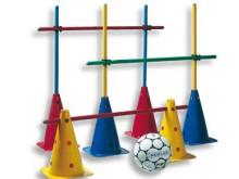 All-In Sport: Het écht doordachte concept – niets meer te vullen en toch een goede stabiliteit. Pakken – opstellen – trainen. Door de markeringskegels ...