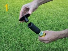 All-In Sport: Synthetisch grasimplantaat. 1 set met 25 PLiFIX (incl. aanbrenghulp) is voldoende voor 1 compleet voetbalveld. Innovatief hulpsysteem voo...