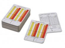 All-In Sport: Die Spielnotizkarten Fussball gemäß Onlinespielbericht sind für Schiedsrichter ein Muss bei jedenm Fussballspiel.