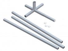 All-In Sport: Set mit 2 Hülsenkreuzen für ein Fußballtor F2108, sowie 4 Hohlprofil-Auslegern (3 Stk 250 cm und 1 Stk 100 cm), diese müssen mit Sand bef...