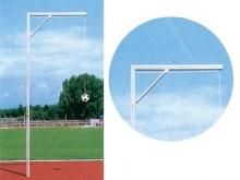 All-In Sport: stabiele aluminium constructie, eenvoudige montage en bediening, 450 cm hoog, met 1 overhang 165 cm. Levering incl. bodemhuls en kopgalgt...