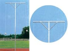 All-In Sport: stabiele aluminium constructie, eenvoudige montage en bediening, 450 cm hoog, met 2 overhangen elk 250 cm, openliggende wartel en touwvoe...