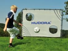 All-In Sport: Weerbestendig voetbaldoel met stalen buizenframe (Ø 32 mm), antraciet epoxy gelakt, makkelijke klikmontage met veiligheidsverankering. Ne...