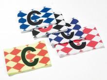 All-In Sport: Elastisch, in nieuw ruitdesign, leverbaar in rood/wit, blauw/wit, zwart/wit, neongeel/neonrood.
