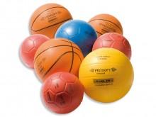 All-In Sport: De ProSoft®-Ballmix set bestaat uit 8 ProSoft®-ballen: 3 handballen per maat 1 stuks, 3 basketballen per maat 1 stuks, 1 volleybal en 1 v...