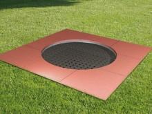 All-In Sport: Die Kids Tramp Trampoline PLAYGROUND LOOP mit der runden Sprungfläche sind speziell für unbeaufsichtigte, frei zugängliche Bereichen wie ...