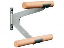 All-In Sport: Van edelstaal. Voor één bar met een lengte van 250 cm zijn 3 wandbeugels nodig! Levering excl. balletbar.