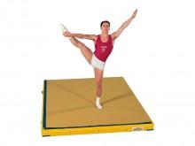 All-In Sport: Halbe Niedersprungmatte mit Klett-Sicherheitssystem mit flächen-elastischen Dämpfunseigenschaften durch Leicht- und Polyetherschaum.