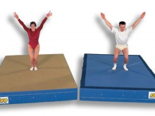 All-In Sport: Ongeveer 3,50 m lang en ongeveer 30 cm breed. BELANGRIJK: alleen bij aanschaf van 2 matten is een voeg- en bevestigingstape noodzakelijk.