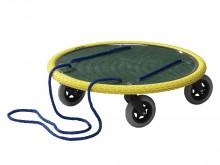 All-In Sport: Das Rollbrett für draußen! Extra große Lenkrollen für unebene Böden und Verbundpflaster. Umlaufend luftgefüllter Gummireifen, als Prallsc...
