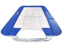 All-In Sport: Das Grand Master Exclusiv Open End ist konzipiert als <br />Trainingstrampolin, das mit der offenen Seite zu einer<br />Schnitzelgrube ze...