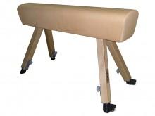All-In Sport: nach DIN 7902, Höhenstellung in Stufen von 5 cm von 100 - 150 cm, Polsterung aus bestem Kernrindlederbezug, Hufe aus nichtfärbendem Vulko...