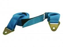 All-In Sport: Bevestiging via klittenbandsluiting, verstelbaar in de lengte middels een kunststof gesp.