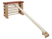 All-In Sport: Van hoogwaardig, verlijmd espenhout, 2 klemvoorzieningen voor het veilig inhaken aan Varianta springkasten of aan wandrekken, LxBxH: ca. ...