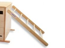 All-In Sport: De VARIO-ladder kan in de openingen aan de lengtezijden van de VARIO-kasten ingehaakt worden.