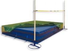 All-In Sport: Compleet met spikesmat van zachtschuim en spikesbeschermer. Deze mat maakt van 4 valmatten met een maat van 300x200 cm een hoogspringkuss...