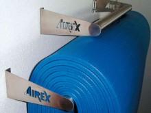 All-In Sport: De praktische opberghulp voor matten zonder ogen. Wandbeugel compleet van edelstaal. Steekt ca. 20 cm naar voren uit, voor ca. 15 matten ...