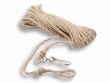 All-In Sport: Van zacht vezel met karabijnhaak voor inhaken, voor groeps-touwspringen, turnoefeningen en gymnastiek. Materiaal: 100% vlas.