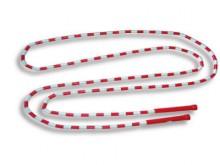 All-In Sport: Springtouw, bestaande uit een nylon touw voorzien van gekleurde, kunststof buisjes. Lengte 300 cm, met kunststof handvaten, kleuren: rood...